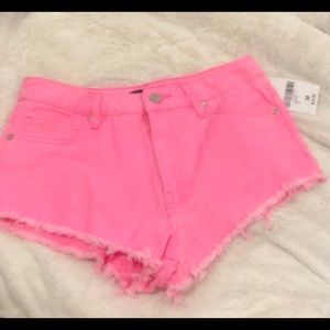 Forever 21 hot pink denim mini shorts. Never worn